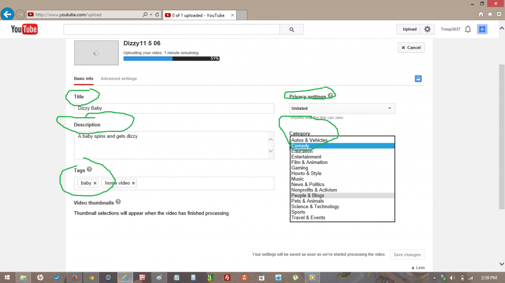 YouTube Edit Video Basics